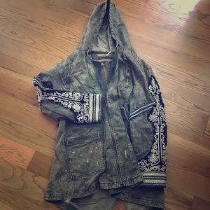 Free People Military-style jacket